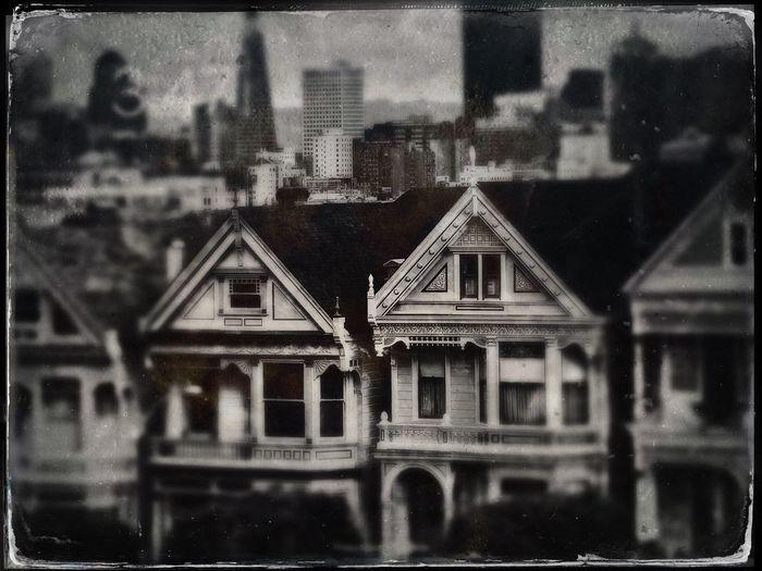 Architectural Tintype 1 Painted Ladies, San Francisco Architecture Building Exterior San Francisco Painted Ladies,