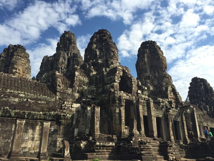 Low Angle View Of Angkor Wat Against Sky