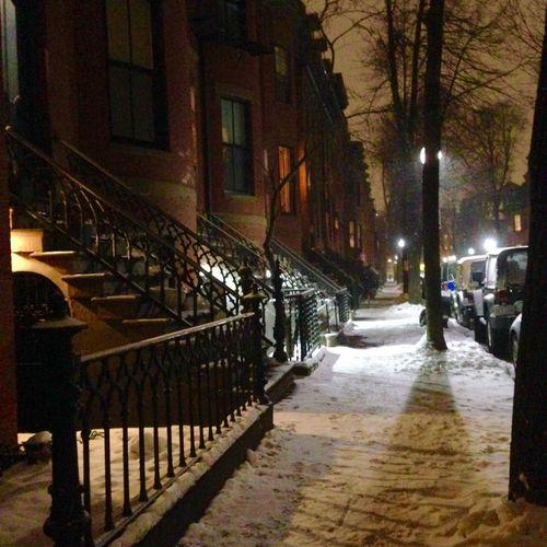 Dwight Street. Snow Landscape Streetphotography Architecture Night Nightphotography My Winter Favorites JohnRuggieri My Best Photo 2015 It's Cold Outside