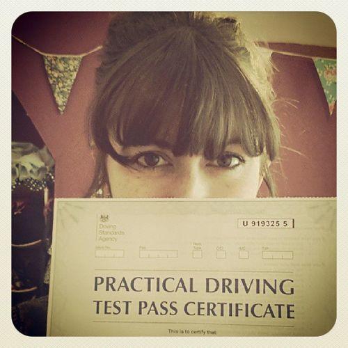Nailed it. Driving Selfie Ipassed Certificate Happy Success Ididit Zoom Brumbrum Car