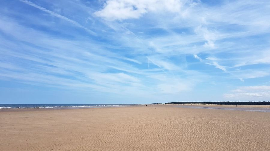 Beach Sea Sand Sky Outdoors Water Nature Horizon Over Water Beauty In Nature Blue Cloud - Sky Sunny Scenics Tranquility Tranquil Scene Day Sunlight Summer No People Norfolk Holkham Beach Holkham Sun Landscape Beauty In Nature