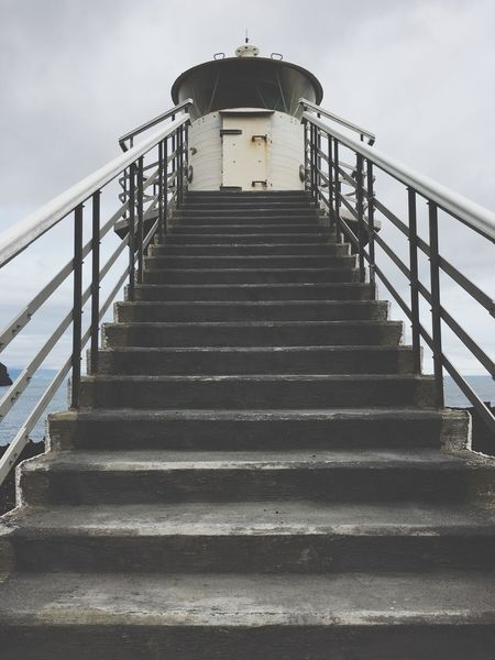 Lighthouse Stairs Lighthouse Built Structure Architecture Direction Staircase The Way Forward Sky Low Angle View Steps And Staircases Day No People Outdoors Building Exterior
