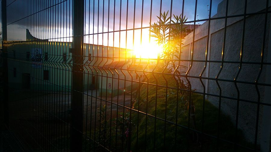 30 de Agosto, Igreja Cató Protection Safety Sunset Sunlight Scenics Beauty In Nature Tranquility Sun Fence lica, Planalto