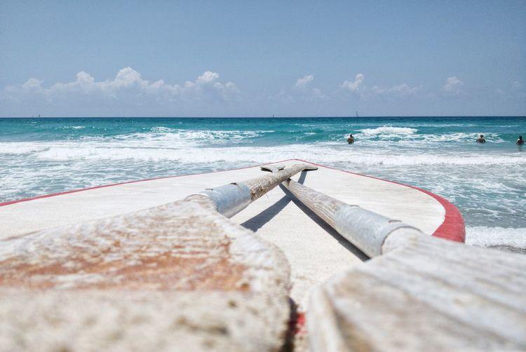 Lifeguards surfboard