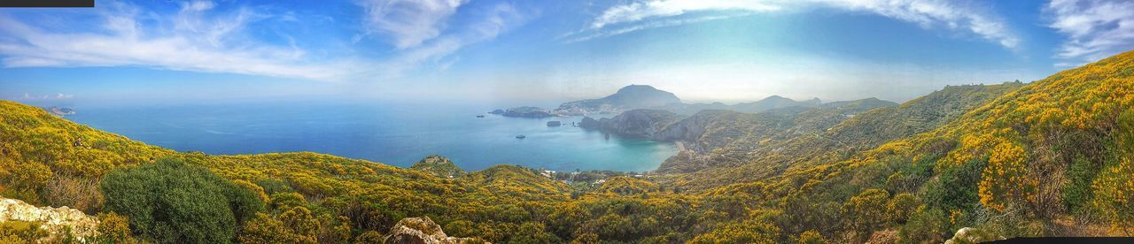 Ponza Island Elevated View Tourism Vacations Nature Non-urban Scene Beauty In Nature Sea Calm Flowers