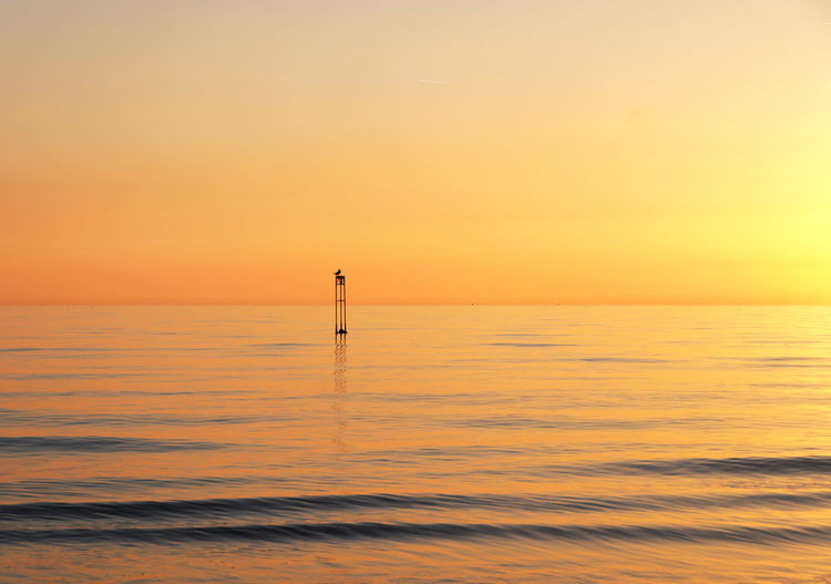 Beauty In Nature Day Horizon Over Water Nature No People Orange Color Outdoors Scenics Sea Sky Sunset #sun #clouds #skylovers #sky #nature #beautifulinnature #naturalbeauty #photography #landscape Tranquil Scene Tranquility Water Waterfront
