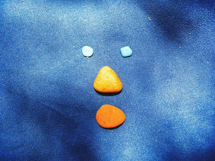 Summer Game Summer Stone Beach Creativity EyeEm Selects Blue No People Full Frame Close-up Indoors  Pattern Creativity Textile