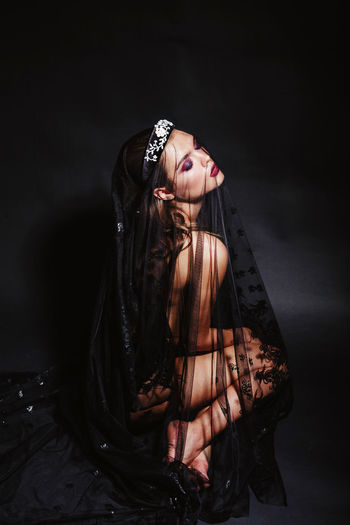 Darkness And Beauty Darkness And Light Halloween Naked_art Nude_model Tiara Witch Witchywoman