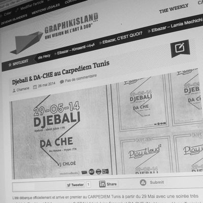Pour lire l'article c'est sur graphikisland.com welcome on board Graphikisland Event Carpediemtunis