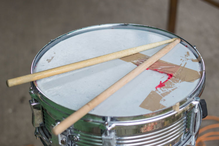 Close-up Day Drum - Percussion Instrument Drum Kit Drum Sticks Drumstick Indoors  Music Musical Instrument No People Stick Sticks
