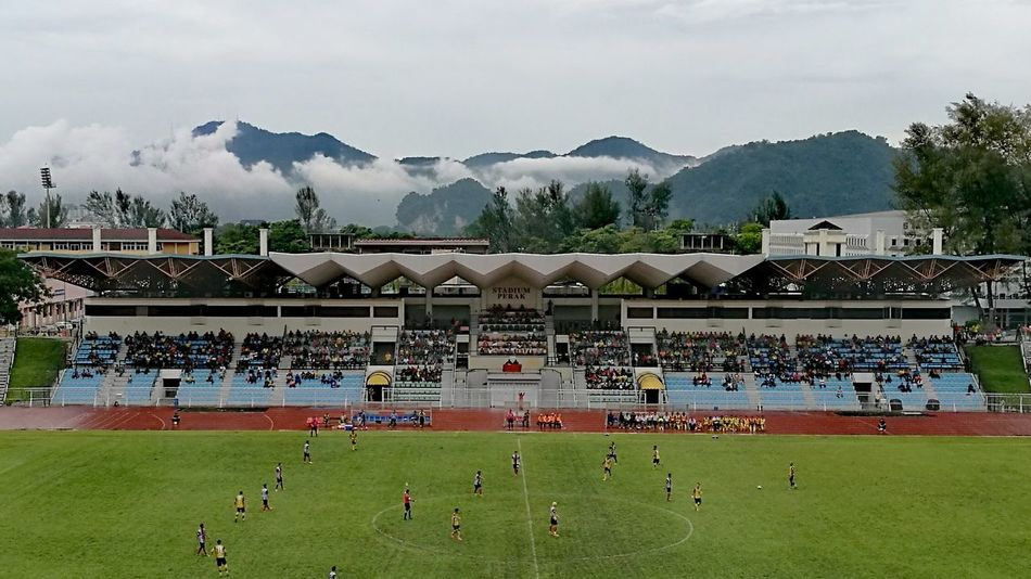 Sport Stadium Soccer Cloudlovers Grass Sports Venue Togetherness Outdoors Day No People Ipoh Down Memory Lane Misty Mountains  Muslimtraveler