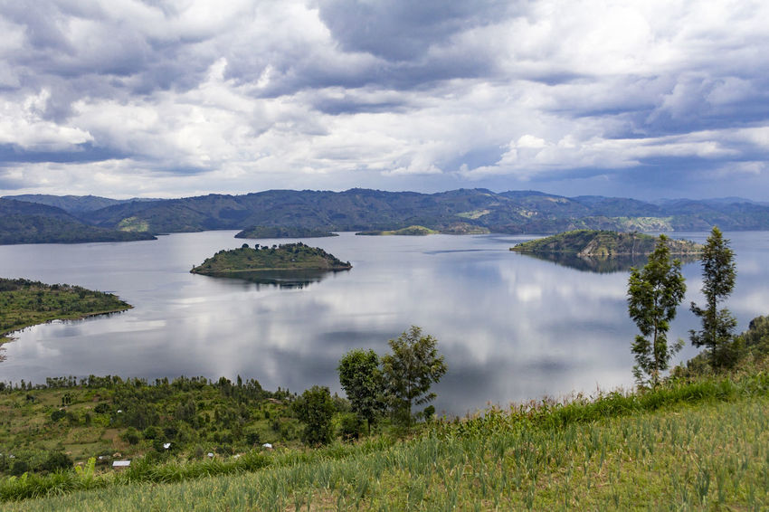 Beauty In Nature Cloud - Sky Great African Lakes Idyllic Island Lake Lake Kivu Landscape Nature Scenic Tranquil Scene Water Rwanda African Landscape Great Lakes Tranquil Travel Destinations Travel Photography