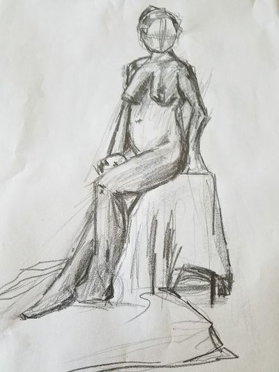 sit down GraphitePencil Graphite Graphite Art person The Past History Old Art And Craft Women Engraved Image Architecture Females Arts Culture And Entertainment