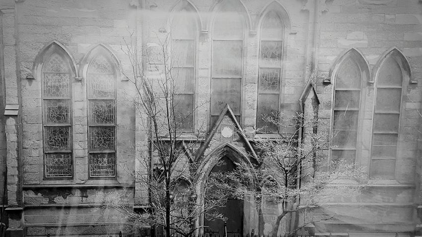Take me to Church... No People Outdoors Day Full Frame Architecture NYC Photography Eyeemphotography Built Structure Architecture Eye For Photography Blackandwhite Photography Blackandwhitephotography Black And White Collection  Church Architecture Creepy Churches Haunted Darkplaces Mysterious Bewitching Finding New Frontiers EyeEmNewHere