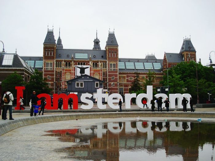 Your Amsterdam Amsterdam Taking Photos Grey Sky Showcase April City Water Reflection Reflection Monument