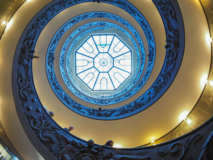 Roma Vatican Museum Vatican Indoors  Built Structure Stairs Spiral Stairs Spiral Staircase Architecture High Angle View Spiral Steps And Staircases Indoors  Moving Around Rome