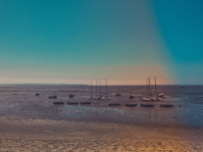 horizon 33 Andernos Andernos-les-Bains Aquitaine Bassin Bassin D'Arcachon Bassinarcachon Beach Beauty In Nature Blue Colours Horizon Over Water Nature No People Port Sand Sea Sea And Sky Seascape Shore Sky Sud-ouest Tranquil Scene Tranquility Water