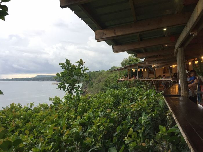 Nice restaurant above a cliff with a sea view and serves superb organic food to match the view. Atmosphere EyeEm EyeEm Best Shots EyeEm Gallery EyeEmNewHere Philippines Rustic Travel View Architecture Beauty In Nature Built Structure Day Enjoying Life Eye4photography  Growth Nature No People Outdoors Plant Reataurant Sky Summer Tree Water