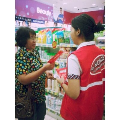 Part time job for today. Promoting Nobite Lotion from Fumakilla at Caring Pharmacy