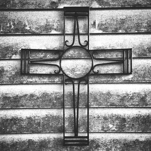 Four Kicks Cross Wall Blackandwhite Detail Contrast Fade Grain Texture Rustic Mississippi
