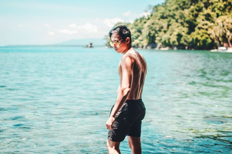 EyeEm Selects Human Back Water Sea Back Beach Muscular Build Young Men Shirtless Men Summer
