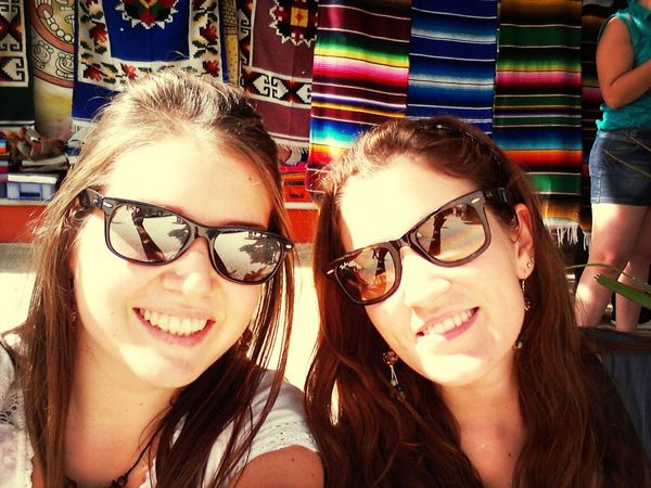 Bestfriends <3 Mexican Colors Sun Happy :)