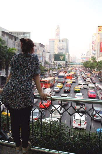 From The Rooftop I feel like I'm Waiting for Something that isn't Going to Happen ... It's Me Traffic Jam Bangkok Thailand EyeEm Best Shots
