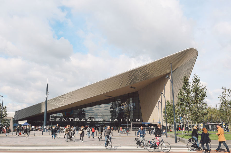 Architecture Building Feature Centraal Station City Day Lion - Feline Modern Outdoors People Sky Train Station Travel Travel Destinations