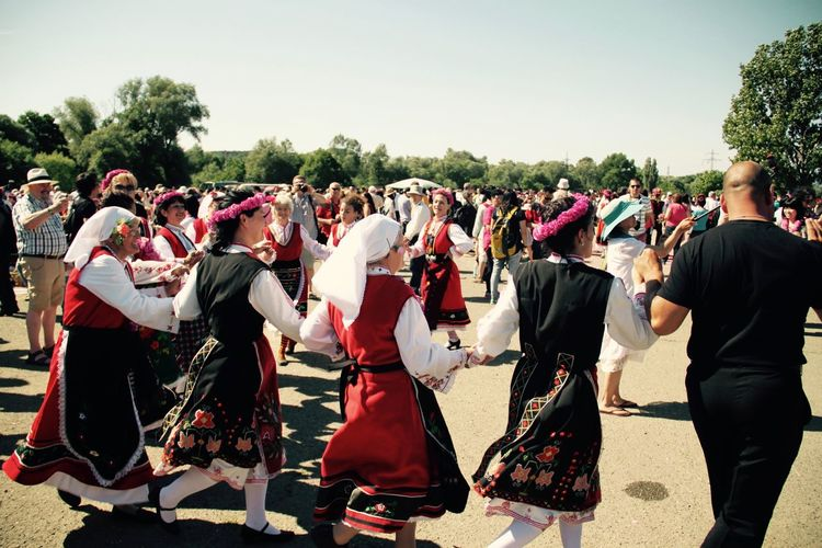 Adults Only Bulgaria Crowd Dance Day Festive Of R Happiness Kazanlak Outdoors People Together Togetherness Traditional Clothing Traditional Costume Traditional Culture Traditional Dance Traditional Festival
