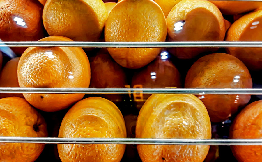 A large orange