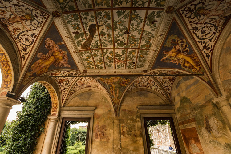 16th Century Architecture Belissimo Ceiling Ceiling Day Fresco Fresco Paintings History House And Garden Indoors  Lombardia Nature NewToEyeEm No People Painting Renaissance Visit Italy Wide Angle