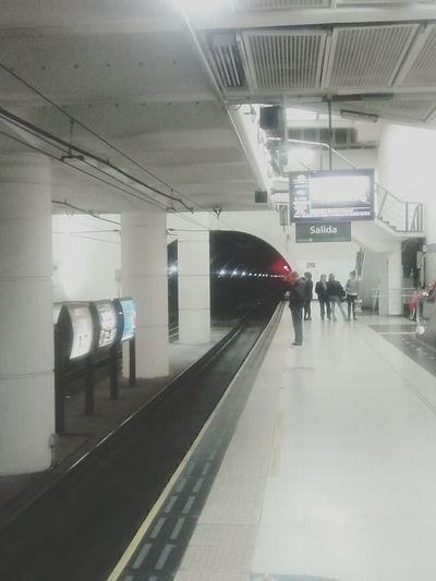 In da subway. // en el subterraneo Underground Landscape