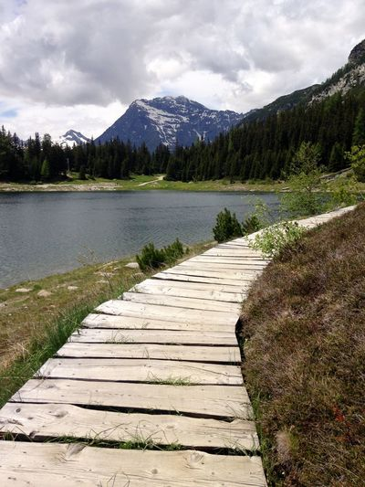 Wood - Material Bridge Amazing View Amazing Serenity Nature_collection Serenity Acqua Nature Lagopalu Valmalenco Mountain Water Sky Scenics - Nature Cloud - Sky Beauty In Nature Tranquil Scene Tree Tranquility Nature Mountain Range Non-urban Scene No People Day Idyllic Outdoors Plant Coniferous Tree Lake