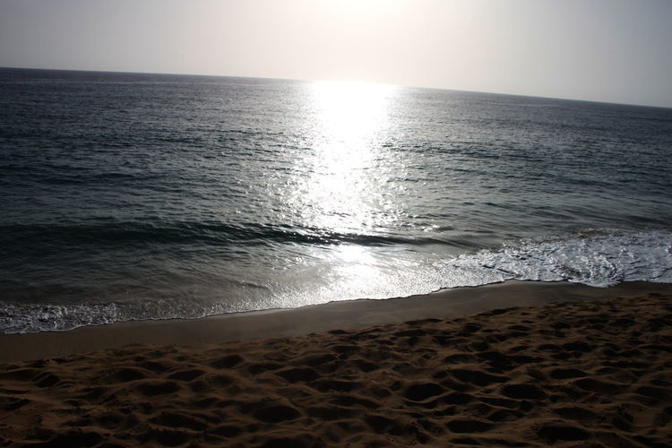 Beach Capo Verde Day Horizon Over Water Nature No People Outdoors Sal Island Sand Santa Maria Scenics Sea Sky Summer 2015 Sun Sunlight Traces In The Sand Water Water Reflections Wave