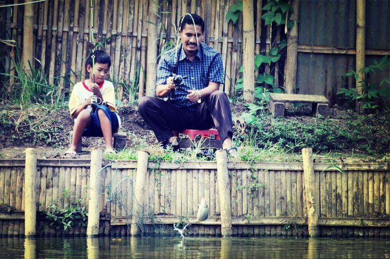 Human Interest Fishing Family Instabandung