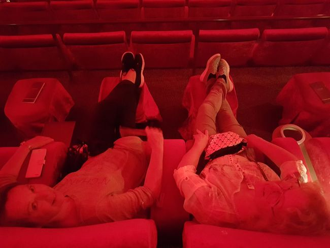 Red Indoors  Sitting Adult People Adults Only Human Body Part Cinema Cinema Seating EyeEm Diversity The Week On EyeEm Warm Light Warm Colors Warm Lighting Close-up No Edit/no Filter Full Frame Red High Angle View Interior Photography Happy People In Cinema  Astor Second Acts EyeEm Ready   This Is Aging