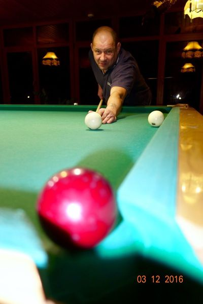 Pool Table Pool Ball Pool Cue Pool - Cue Sport Leisure Activity Playing One Man Only Only Men Adults Only Concentration Men One Person Sport Aiming Skill  Leisure Games Indoors  Ball Snooker One Mature Man Only