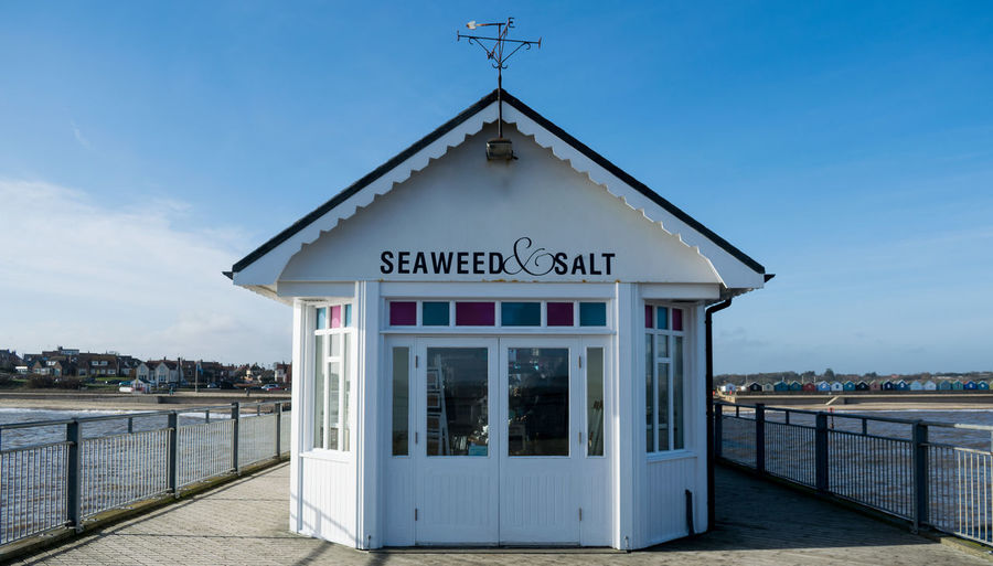 Architecture Building Exterior Built Structure Day Entrance Façade Nature No People Outdoors Pier Salt Seaside Seaweed Seaweed&salt Sky Sunlight Text Water