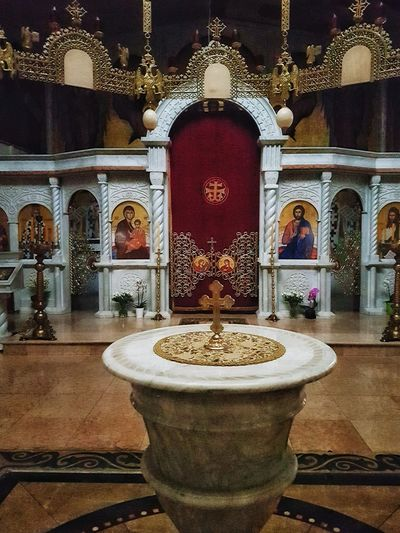 Indoors  No People Spirituality Architecture Built Structure Religion Orthodox Church Place Of Worship