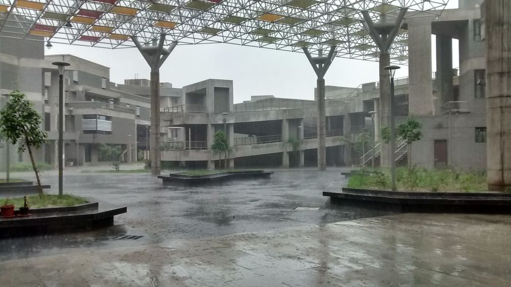 Architecture Building Exterior Built Structure Campus City No People Outdoors Rain Rainy Days Sky