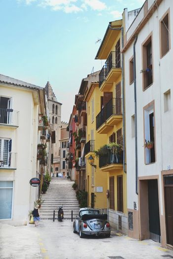 Car City Street Travel Street Architecture City Travel Destinations Sky Building Exterior Outdoors Day Multi Colored Cityscape Water No People Built Structure Architectural Feature Architecture Taking Photos SPAIN Mallorca