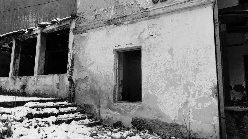 Monochrome Blackandwhite Decaying. Decaying Wood. Things Of Old. Bad Condition Window Obsolete Abandoned Building Exterior Woods Ruin Cold Temperature Ruined Building Isolated Winter ExploreEverything Explore Abandoned Places Abandoned House Abandoned Places Abandoned Buildings Decaying Structure Decaying Building Forest Architecture Built Structure Background For Quotes