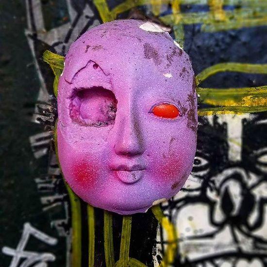 Photo by Me @epok_artography, interesting find in SoHo,Manhattan w/ @joseph_meloy Art on the backdrop Randomshit NYC Newyork Manhattan Soho Streetart Nystreetart StreetArtNYC UrbanART Dollface Meloyart Josephmeloy Randomfind Evildoll