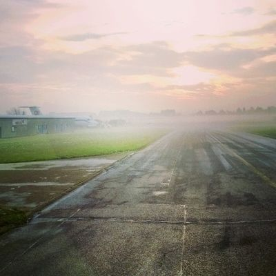 Christmas Frosty Work London Southend Essex foggy cold winter morning aircraft runway instagood followme like igers