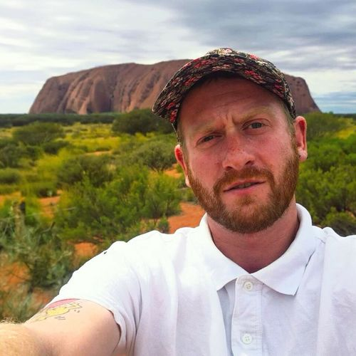Self Portrait Around The World Ularu Ayresrock Australia Outback
