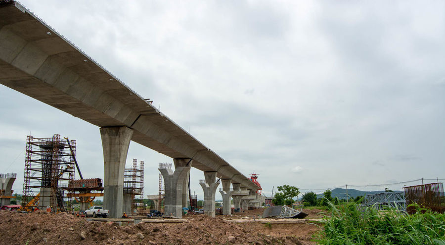 Bridge to nowhere Architecture Built Structure ByPass Cloud - Sky Concrete Concrete Jungle Costruction Day Elevated Road Expressway In Progress  Low Angle View No People Outdoors Sky