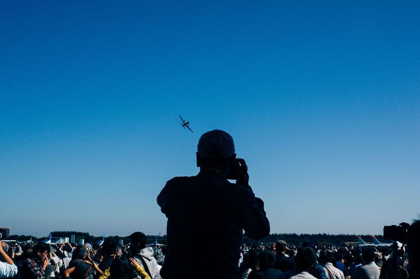 Iruma Air Base Japan Shutter Opportunity Air Show Clear Sky Day Flying Men People Sky