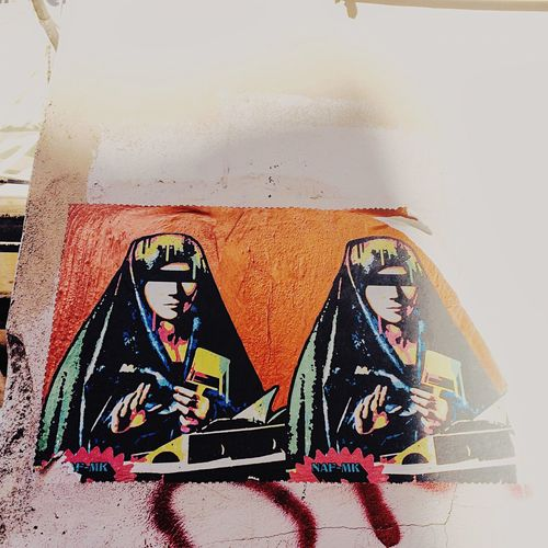 Wall - Building Feature Creativity Streetphotography Streetart Streetart/graffiti Graffiti Madonna Blind Censored Censura Art ArtWork Streetartwork Palermostreet Dontsee Blinded