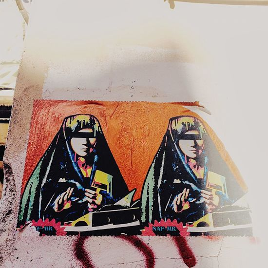 Wall - Building Feature Creativity Streetphotography Streetart Streetart/graffiti Graffiti Madonna Blind Censored Censura Art ArtWork Streetartwork Palermostreet Dontsee Blinded