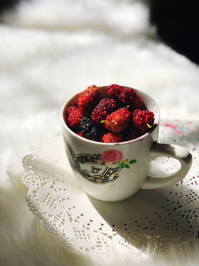 Food And Drink Food Fruit Freshness Indoors  Cup Healthy Eating Berry Fruit Mug